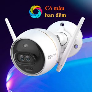 Camera EZVIZ C3X CS-CV310 2.0 Megapixel, ghi hình màu ban đêm khi ánh sáng yếu, tích hợp AI, âm thanh 2 chiều, đèn và còi báo động,