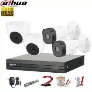 TRỌN BỘ 4 CAMERA DAHUA 2.0MP []- HDCVI FULL HD 1080P, HỒNG NGOẠI 20M, CHỐNG NƯỚC TỐT 4.77 trên 5 dựa trên